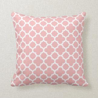 Pink Rose Quatrefoil Trellis Pattern Pillows