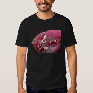 Pink Rose Raindrop Wedding T Shirt