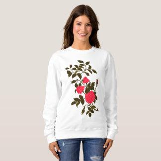 Pink Rose Recolored Vintage Image Sweatshirt