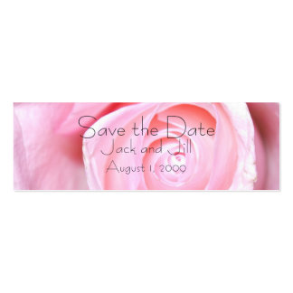 Pink Rose, Save the Date Pack Of Skinny Business Cards