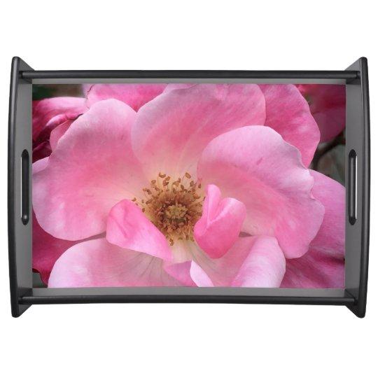 Pink Rose Serving Platter