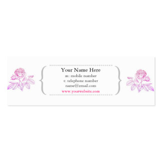 Pink Rose Skinny Profile Card Business Card Templates