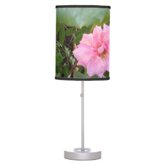 PINK ROSE TABLE LAMP