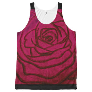 Pink Rose Tank Top for Women