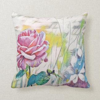 pink rose throw pillows