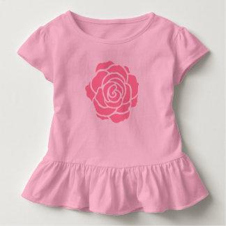 Pink Rose Toddler Ruffle T-Shirt