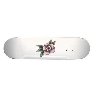 pink rose traditional skate boards
