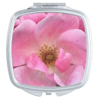 Pink Rose Travel Mirrors