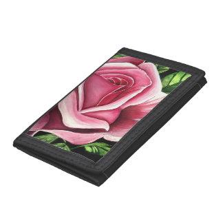 Pink Rose Tri-fold Wallet