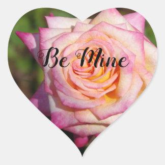 Pink Rose Valentine Heart Sticker