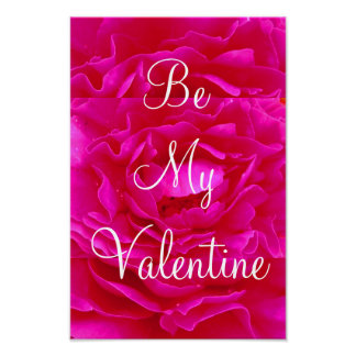 Pink Rose Valentine Poster - Customizable Print