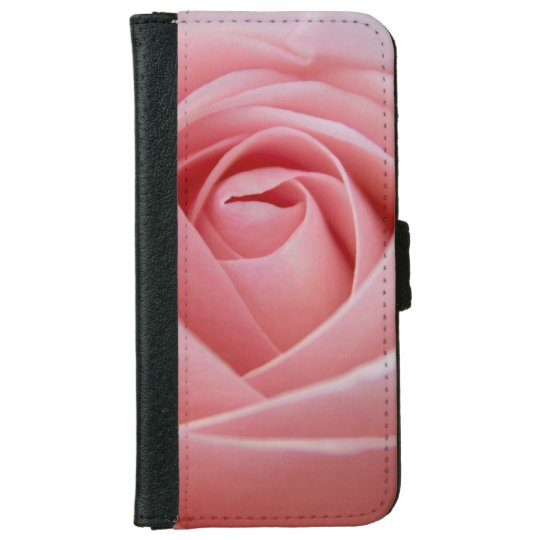 Pink Rose wallet style phone case iPhone 6 Wallet Case