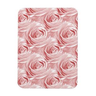Pink Rose Wallpaper Pattern Magnet