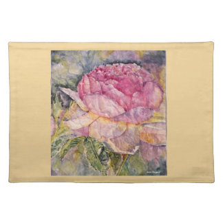 Pink Rose Watercolor Art Placemat
