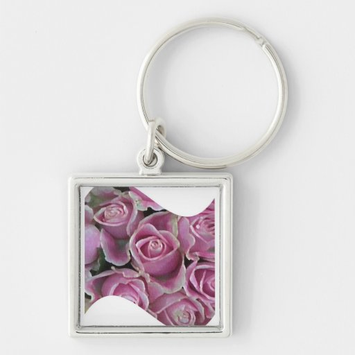 Pink Rose Wave Key Chain