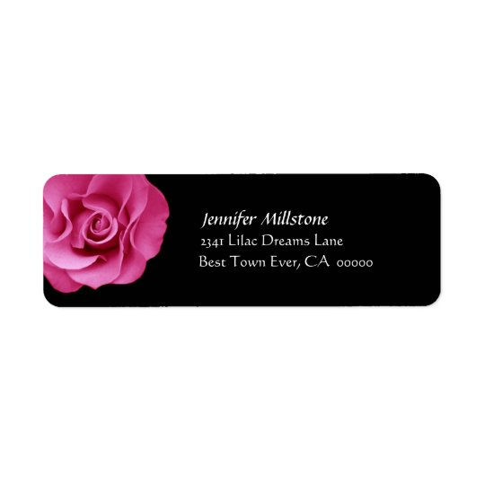 PINK Rose Wedding Address Label