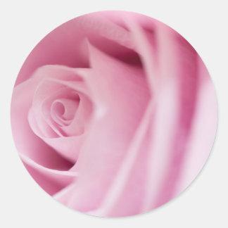 Pink Rose Wedding Envelope Seal and Stickers