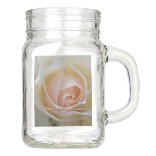 pink rose wedding favours mason jar