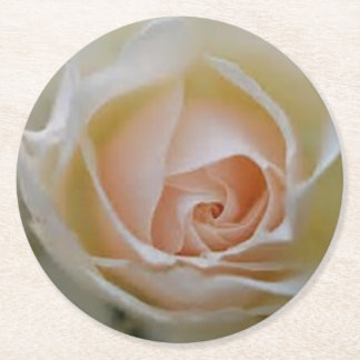 pink rose wedding favours round paper coaster
