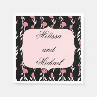 Pink Rose Wedding Napkin