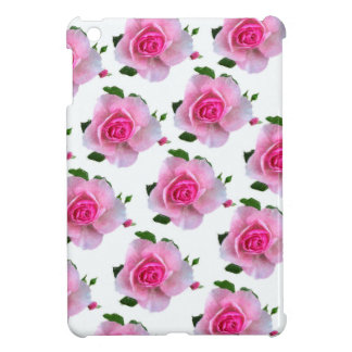 Pink Rose White Cover For The iPad Mini