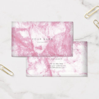 Pink Rose White Gray Marble Vip Appointment Business Card