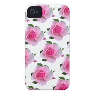 Pink Rose White iPhone 4 Case
