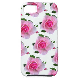 Pink Rose White iPhone 5 Covers