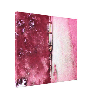 Pink Rose White Painted Landscape Canvas Print