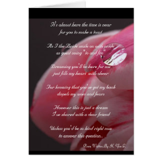 Pink Rose Will You Be My Bridesmaid Greeting Card