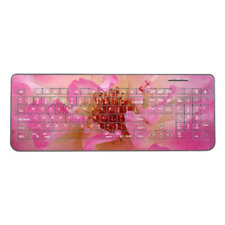 Pink Rose Wireless Keyboard