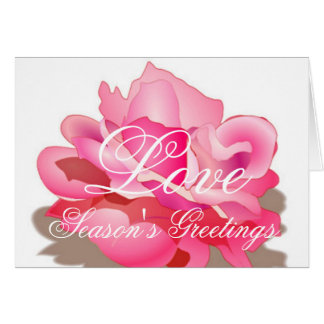 Pink Rose With Love Card