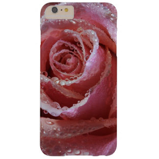 Pink Rose with Raindrops Cell Phone Case