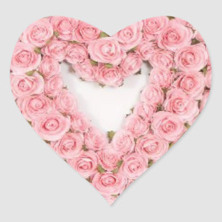 Pink Rose Wreath Sticker for any occasion