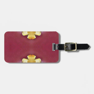 Pink Rose Yellow Modern Simplistic Pattern Luggage Tag