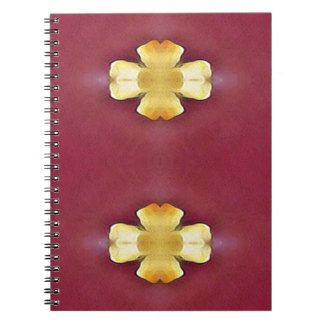 Pink Rose Yellow Modern Simplistic Pattern Notebook