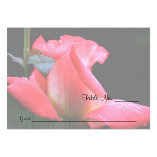 Pink Rosebud Floral Wedding Table Place Cards Business Cards