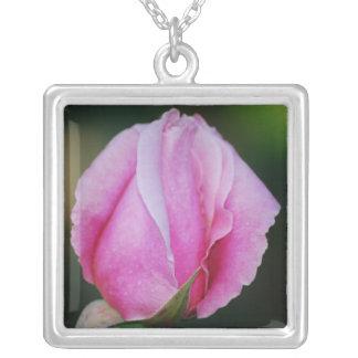 Pink Rosebud Necklace