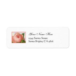 Pink Rosebud Vintage Custom Return Address Labels