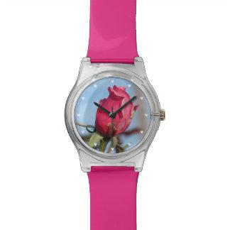Pink Rosebud Wrist Watches