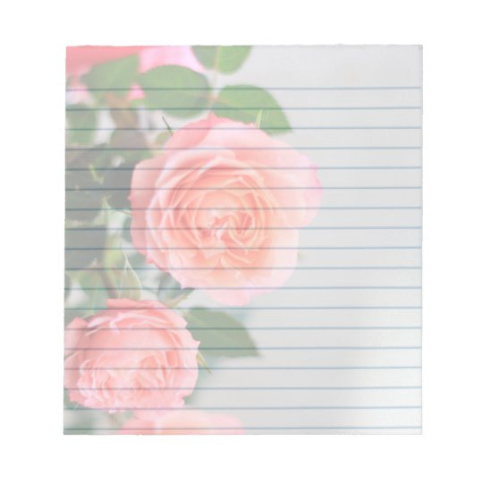 "Pink Roses  5.5x6"" notepad"