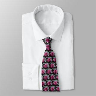 Pink Roses And Buds Tie