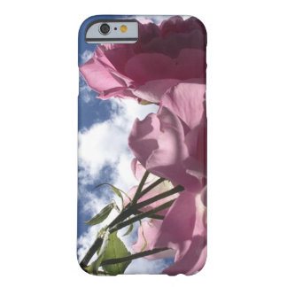 Pink roses and sky barely there iPhone 6 case