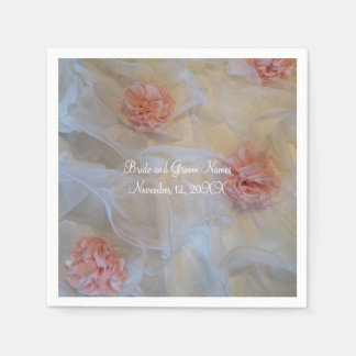 Pink Roses and White Ruffles Napkin