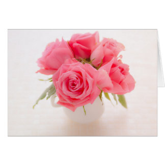 Pink roses birthday card | mother's day