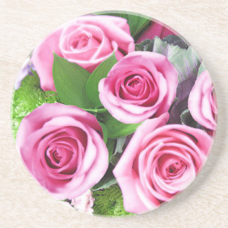Pink Roses Bouquet - Coaster