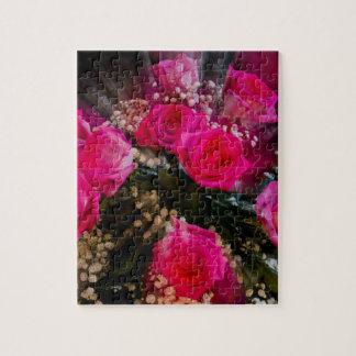 Pink Roses Bouquet Explosion Puzzle