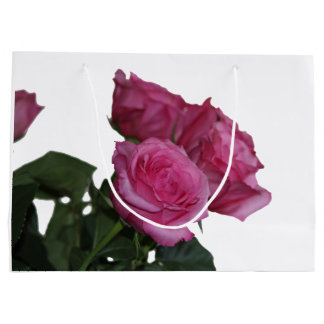 Pink Roses Bouquet Large Gift Bag