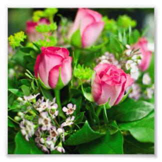 Pink Roses Bouquet Photo Art