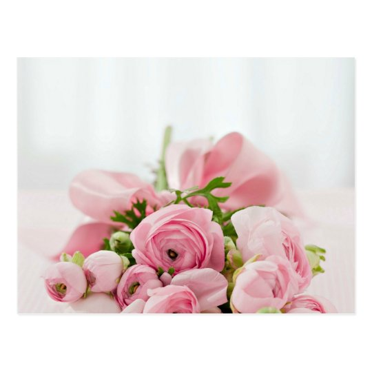 Pink Roses Bouquet Postcard